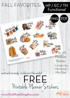 Free planner printables, diy crafts, and card making crafts. Planner stickers for the Happy Planner, Erin Condren, and all types of planners. Happy Planner Kit, Free Planner, Planner Ideas, Monthly Planner, Printable Planner Stickers, Free Printables, Printable Calendars, Planner Decorating, Planner Organization