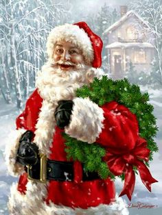 Una grafica de Santa, Santa, Santa