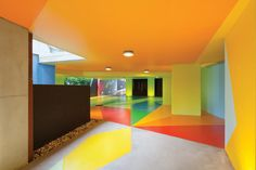 An unexpected place for colour — parking garage from Architecture firm Marsh Cashman Koolloos  #colour