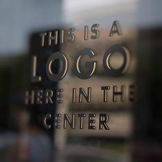 Free Window Pane Logo Mockup (192 MB)   weareforemost.com   #free #photoshop #psd #mockup #window #pane #logo