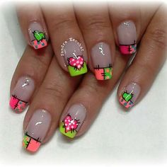 Nail Polish Designs, Nail Art Designs, Different Types Of Nails, Makeup Art, Summer Nails, You Nailed It, Fun Nails, Pedicure, Hair And Nails