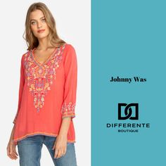 A splash of colour - when done right - can add such a touch of vibrancy to your day. A great example is this stunning top from JohnnyWas. Available in store now. Johnny Was, Brisbane, Color Splash, Velvet, Colour, Boutique, Luxury, Womens Fashion, Touch