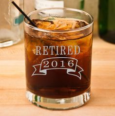 Retirement Gift Rocks Glass Retirement by PersonalizedGiftsUS