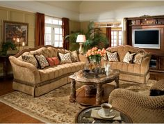 Villa Valencia Wood Trim Tufted Living Room Sofa http://www.maxfurniture.com/living-room/seating/villa-valencia-wood-trim-tufted-living-room-sofa-by-aico.html #decor #furniture