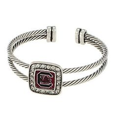 South Carolina Gamecocks Logo Cuff Bracelet www.ssouthernboutique.com