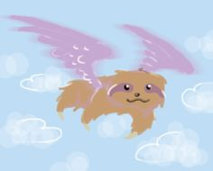 a flying sloth #sloth #drawing