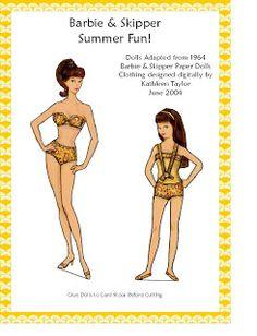 Kathleen Taylor's Dakota Dreams: Thursday Tab- Original B & S Summer, paper and magnetic