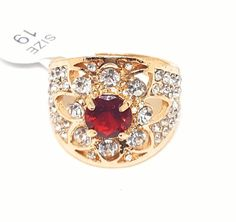 Jewelry Cocktail Women Fashion Crystal Rings Gift Love Rhinestone NWT Size 9 #Unbranded #Cocktail