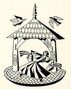 Illustrations by M. S. Nowicki for Made in Poland: Living Traditions of the Land by Louise Llewellyn Jarecka (1949)- 50 Watts