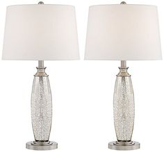 Carol Mercury Glass Table Lamp Set Of 2 360 Lighting