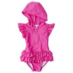 Circo® Infant Toddler Girls' Rashguard w/ Attached Swim Bottoms. This is cool, cute and smart.