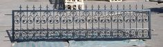 """42"""" victorian style wrought iron gate"""