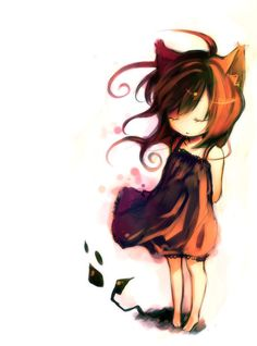 Арт, неко (猫), художник: niña gato (?)