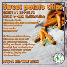 Weigh-Less Best Choice Recipe Healthy Eating Recipes, Healthy Meal Prep, Veggie Recipes, Diet Recipes, Healthy Snacks, Cooking Recipes, Recipies, Banting Recipes, Sweet Potato Chips