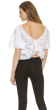 Rachel Comey Bowtie Crop Top | SHOPBOP