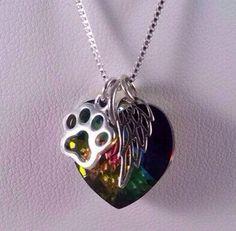 Rainbow bridge pet loss necklace Pet Loss Pet by KristiKayDesigns