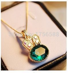 N004 2016 fashion green sea rabbit control over drilling cute bunny crystal clavicle pendant necklaces jewelery♦️ SMS - F A S H I O N 💢👉🏿 http://www.sms.hr/products/n004-2016-fashion-green-sea-rabbit-control-over-drilling-cute-bunny-crystal-clavicle-pendant-necklaces-jewelery/ US $0.30