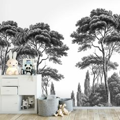 60 chic panoramas and black & white wallpapers Painting Wallpaper, Home Wallpaper, Bedroom Wallpaper, Diy Vanity Lights, Black And White Wallpaper, Black White, Natural Interior, Graphic Wallpaper, Asian Decor