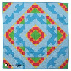 Drunkard's Path Summer Combo Quilt Pattern
