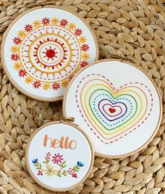Are you kit ready? Grab off on all three embroidery kits 🧵💫 Hand Embroidery Kits, Modern Embroidery, Cross Stitch Embroidery, Embroidery Patterns, Embroidery For Beginners, Diy Arts And Crafts, Craft Kits, Circles, Needlework