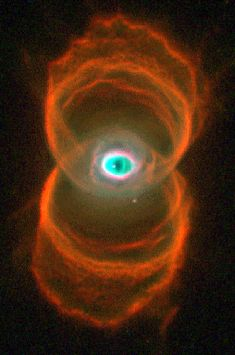 "Nick named ""eye of God"" nebula. Imagine what the guy thought when he saw this staring back at him thru the telescope!"