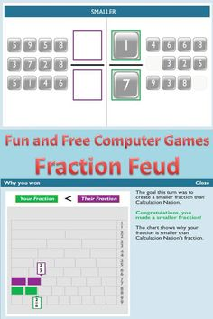Here is a great game for comparing and ordering fractions.  I use this with my 4th-6th graders!