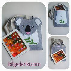 Ipad/tablet kılıfı beyaz koala çanta – Bilge'nin Tasarım Dünyası