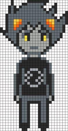 Karkat Vantas Homestuck Openbound Sprite Perler Bead Pattern / Bead Sprite