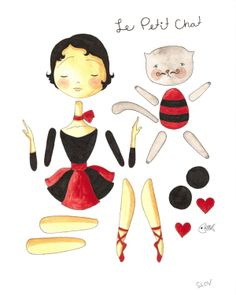 French Paper Dolls by Slovly on Etsy