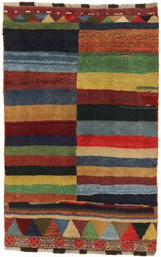 Gabbeh - Qashqai Persian Carpet  | gbh1571-628 | CarpetU2