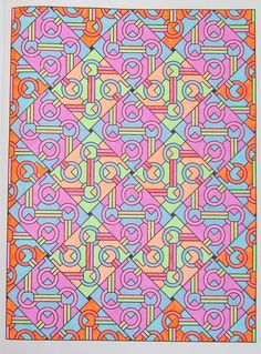 Tesselation patterns 28, done with gelpens
