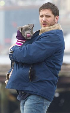 Tom Hardy (it's really the puppy who gets my <3 in this shot)