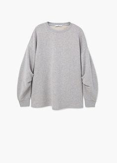 Sweat-shirt manches bouffantes | MANGO