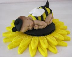 Bumble BEE Cake Topper with matching Sunflower