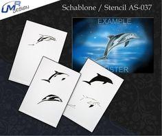 Step By Step Airbrush Stencil As-037 ~ Stencils ~ Umr-Design
