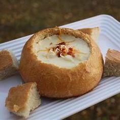 Pão italiano para sopas