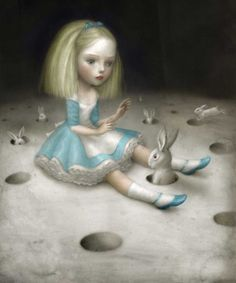 "poisoned-apple:    Alice (via Nicoletta Ceccoli – ""Incubi Celesti""@ Dorothy Circus)"
