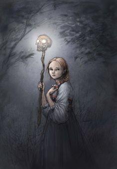 Illustrator, Beautiful Dark Art, Baba Yaga, Halloween Doll, Fantasy Setting, Medieval Fantasy, Painting Inspiration, Art Images, Character Inspiration