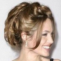 Angelina Jolie Prom Updo Hairstyle