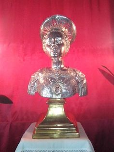 Agira, Enna, S.Sebastiano, mezzo busto reliquiario in argento