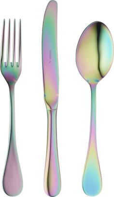 mepra's linea rainbow flatware is glamorous and modern. its