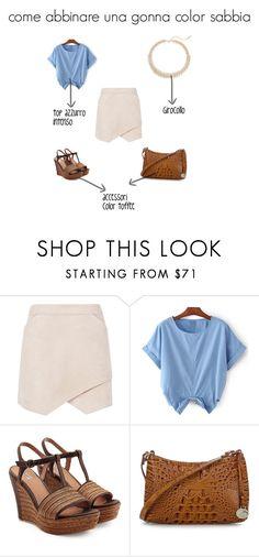 """beige skirt"" by stylosenoi on Polyvore featuring moda, BCBGMAXAZRIA, UGG Australia, Brahmin e Saks Fifth Avenue"
