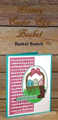 "Complete instructions included in the blog post - Stampin' Up! Basket Bunch handmade Easter Card - 6"" x 6"" Glimmer Paper Assortment Pack - Create With Christy - Christy Fulk, Independent SU! Demo"