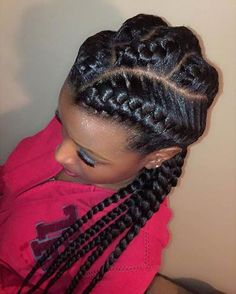 Cute and Simple Goddess Braids Style