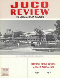 Madison College makes JUCO Review cover in October 1988