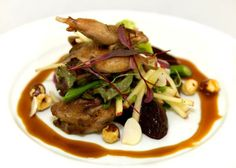 Spice-crusted Quail with Toasted Hazelnuts