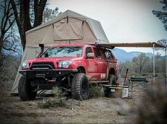 34 ideas truck camping setup adventure for 2019 Overland Tacoma, Overland Truck, Expedition Truck, Off Road Camping, Camping Set Up, Truck Camping, Tacoma Truck, Jeep Truck, Tacoma 4x4
