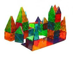 Magna Tiles 100 Piece Clear Colors Set