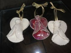 Christmas Angels in Porcelain to grace by NancyBloklandPottery, $10.00