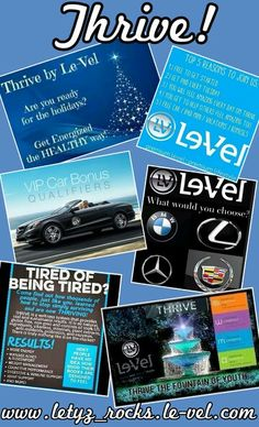 Thrive will help you with the energy & stress relief you need throughout the Holidays!!! Become a customer or better yet become a Promoter!!! It's FREE to sign-up & you'll be on your way to earning extra income & your monthly supply of THRIVE.... FREE!!! Call text or message me if you have any questions!!! Find out more about THRIVE @ www.letyz_rocks.le-vel.com